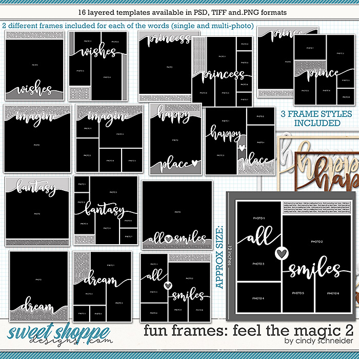 Cindy's Layered Templates - Fun Frames: Feel the Magic 2 by Cindy Schneider