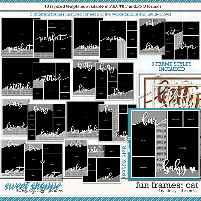 Cindy's Layered Templates - Fun Frames: Cat by Cindy Schneider
