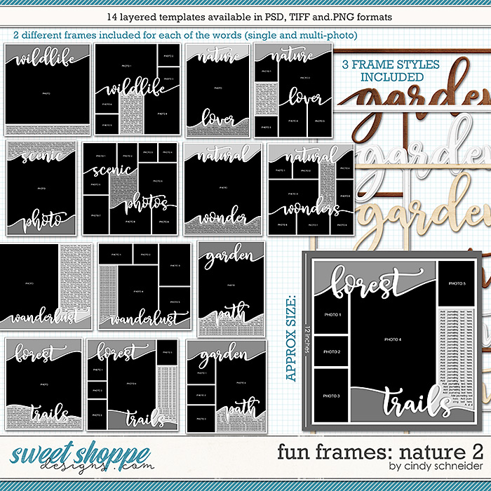 Cindy's Layered Templates - Fun Frames: Nature 2 by Cindy Schneider
