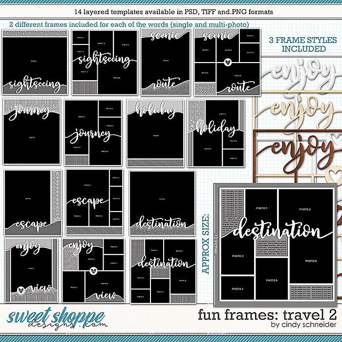 Cindy's Layered Templates - Fun Frames: Travel 2 by Cindy Schneider