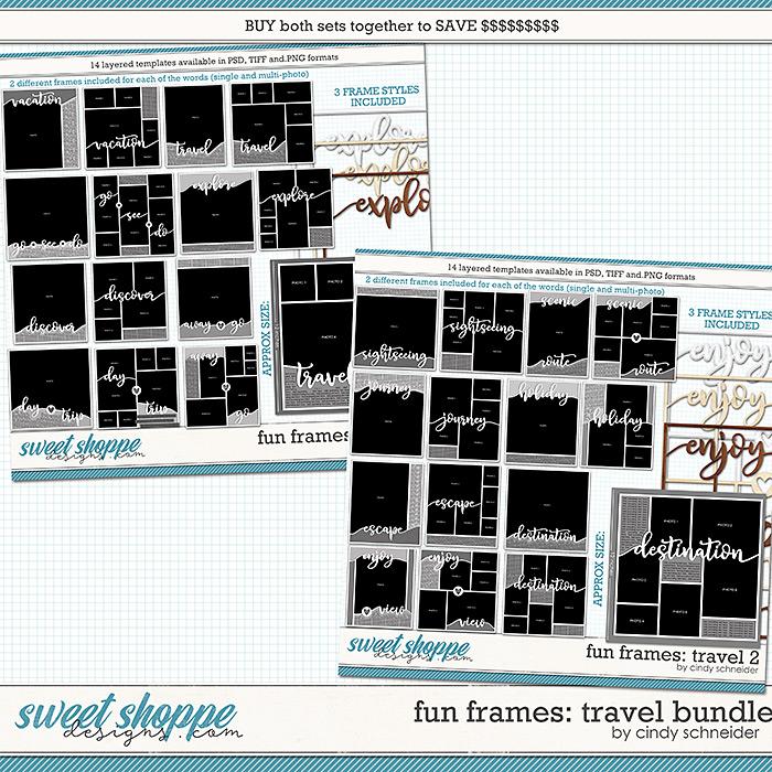 Cindy's Layered Templates - Fun Frames Travel Bundle by Cindy Schneider