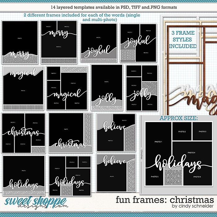 Cindy's Layered Templates - Fun Frames: Christmas by Cindy Schneider