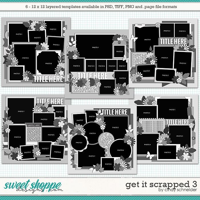 Cindy's Layered Templates - Get It Scrapped 3 by Cindy Schneider