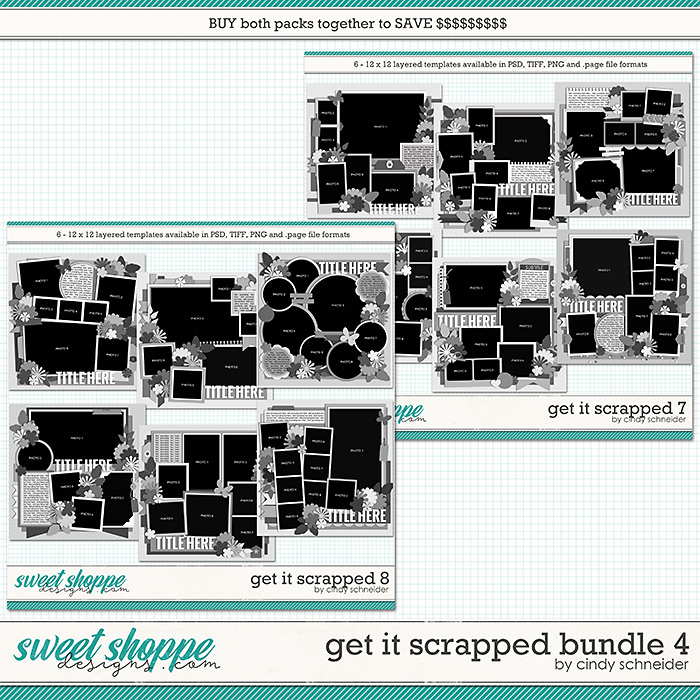 Cindy's Layered Templates - Get It Scrapped Bundle 4 by Cindy Schneider