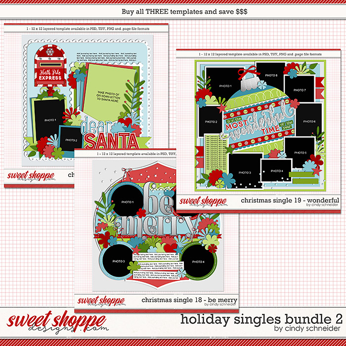 Cindy's Templates - Holiday Singles Bundle 2 by Cindy Schneider