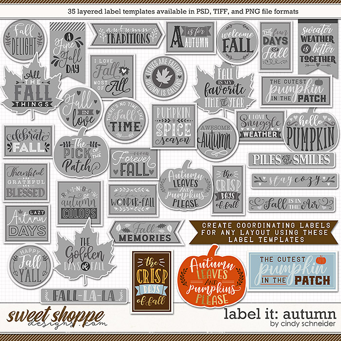 Cindy's Layered Templates - Label It: Autumn by Cindy Schneider