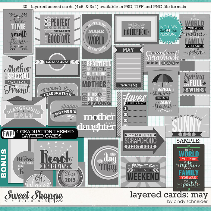 Cindy's Layered Cards: May Edition by Cindy Schneider
