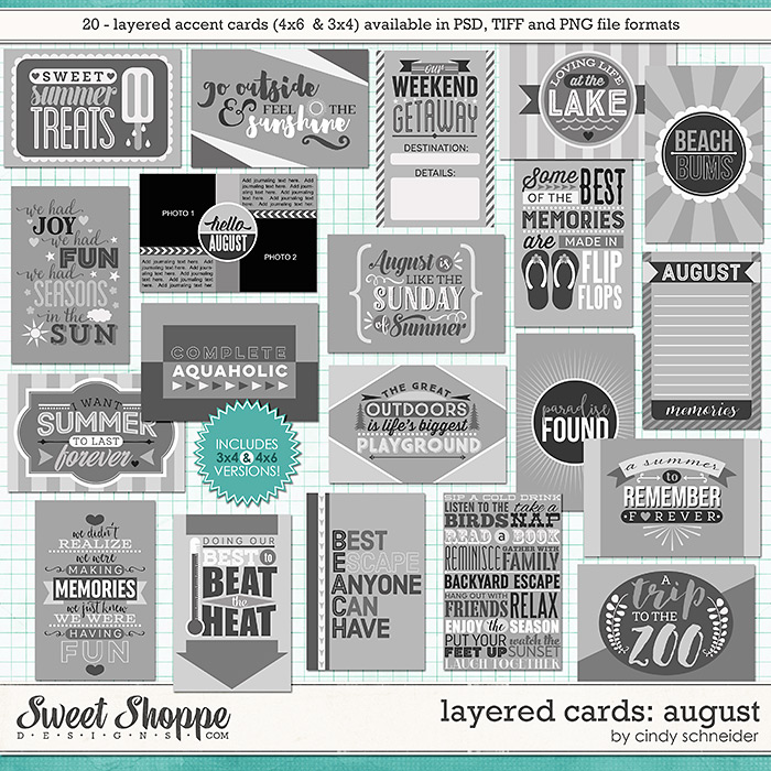 Cindy's Layered Cards - August Edition by Cindy Schneider