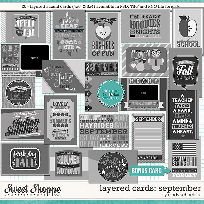 Cindy's Layered Cards - September Edition by Cindy Schneider