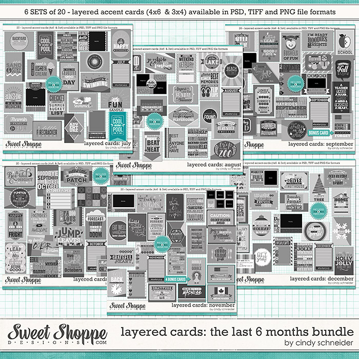 Cindy's Layered Cards - The Last 6 Months Bundle by Cindy Schneider