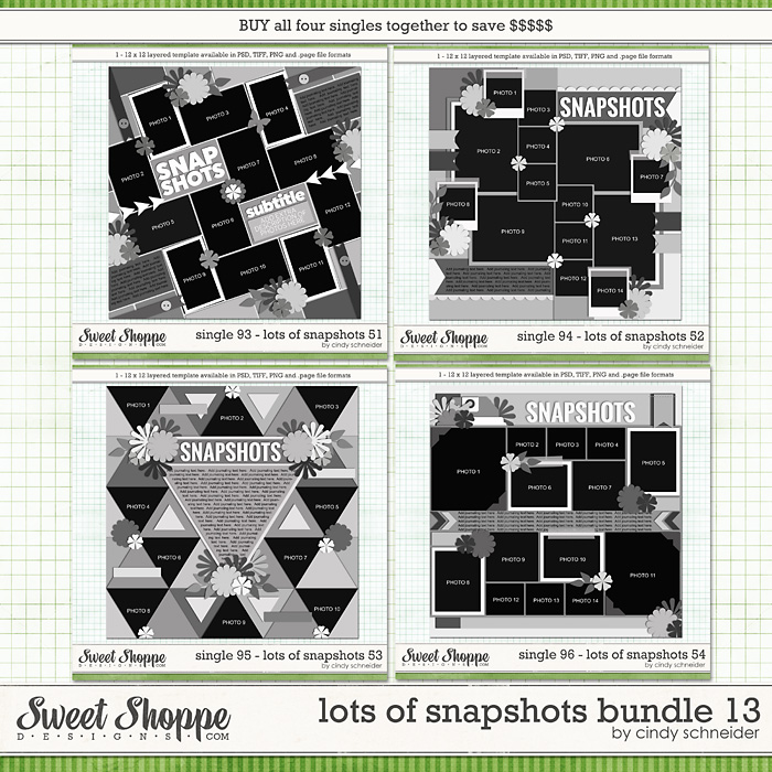 Cindy's Layered Templates - Lots of Snapshots Bundle 13 by Cindy Schneider