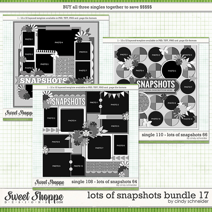 Cindy's Layered Templates - Lots of Snapshots Bundle 17 by Cindy Schneider