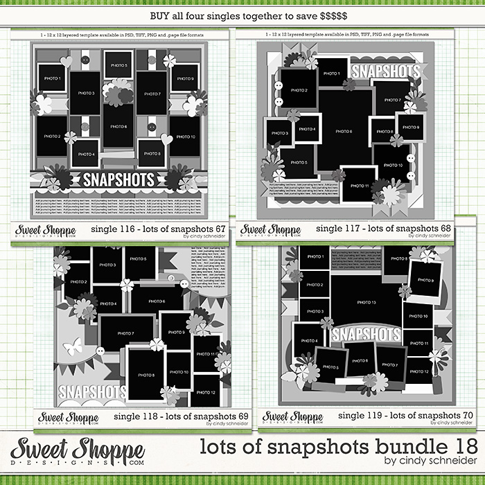 Cindy's Layered Templates - Lots of Snapshots Bundle 18 by Cindy Schneider