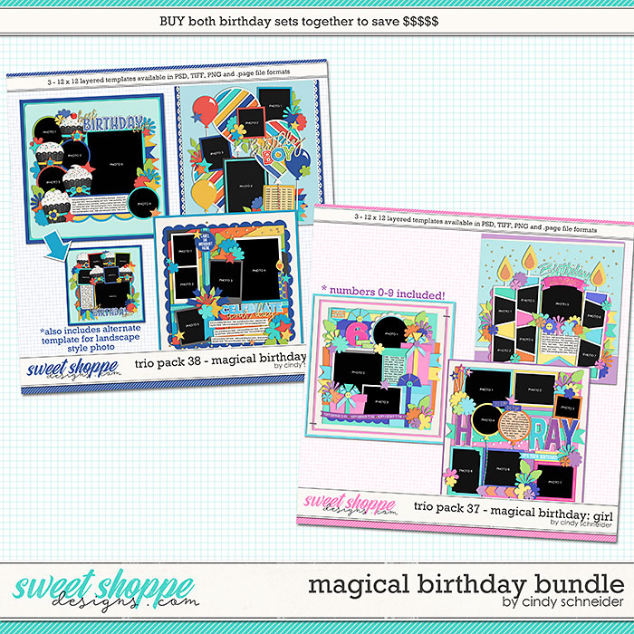 Cindy's Layered Templates - Magical Birthday Bundle by Cindy Schneider