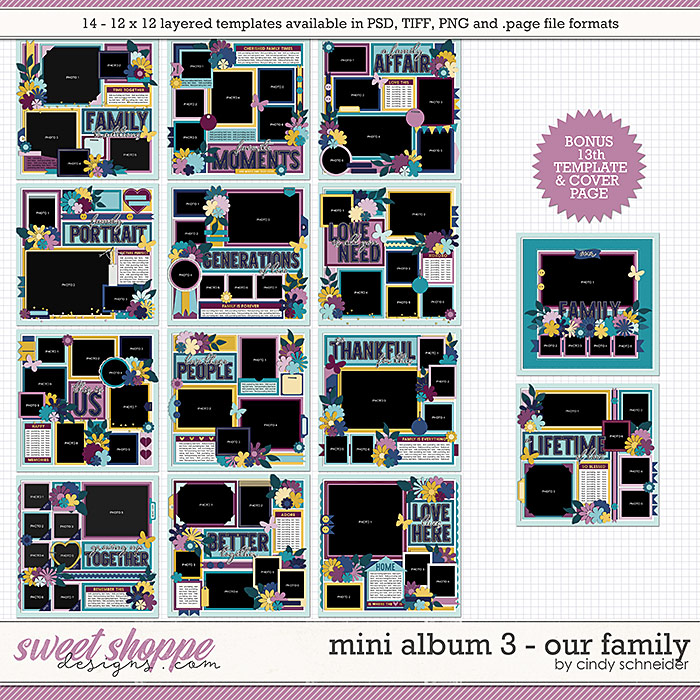 Cindy's Layered Templates - Mini Album 3: Our Family by Cindy Schneider
