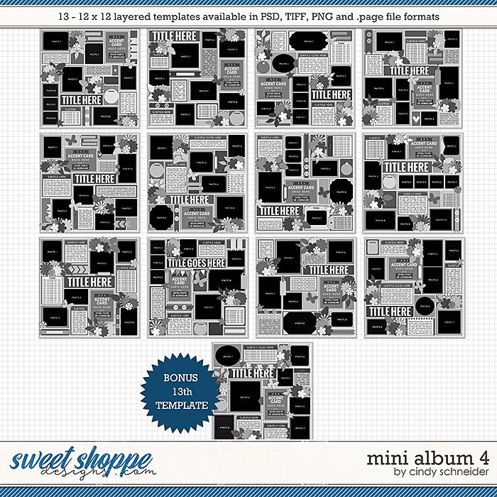 Cindy's Layered Templates - Mini Album 4 by Cindy Schneider