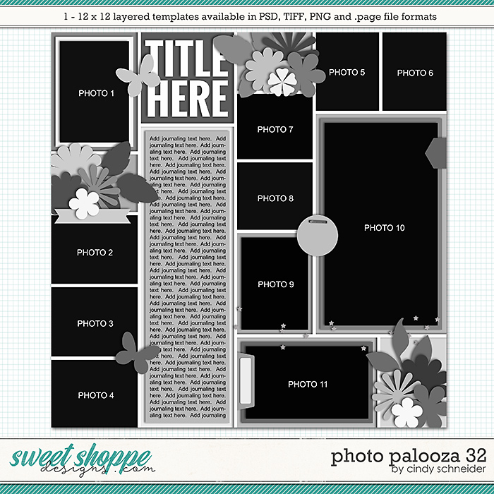 Cindy's Layered Templates - Photo Palooza 32 by Cindy Schneider