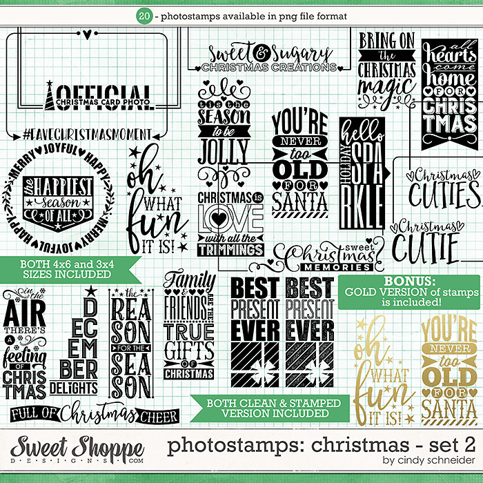 Cindy's Photostamps - Christmas: Set 2 by Cindy Schneider