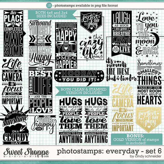 Cindy's Photostamps - Everyday Set 6 by Cindy Schneider