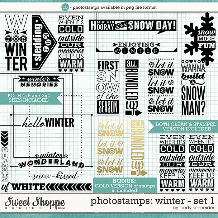 Cindy's Photostamps - Winter Set 1 by Cindy Schneider