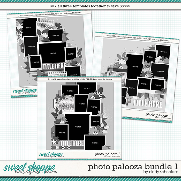 Cindy's Layered Templates - Photo Palooza Bundle 1 by Cindy Schneider