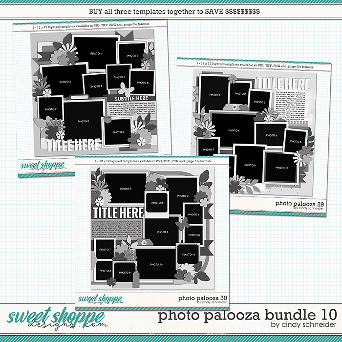 Cindy's Layered Templates - Photo Palooza Bundle 10 by Cindy Schneider