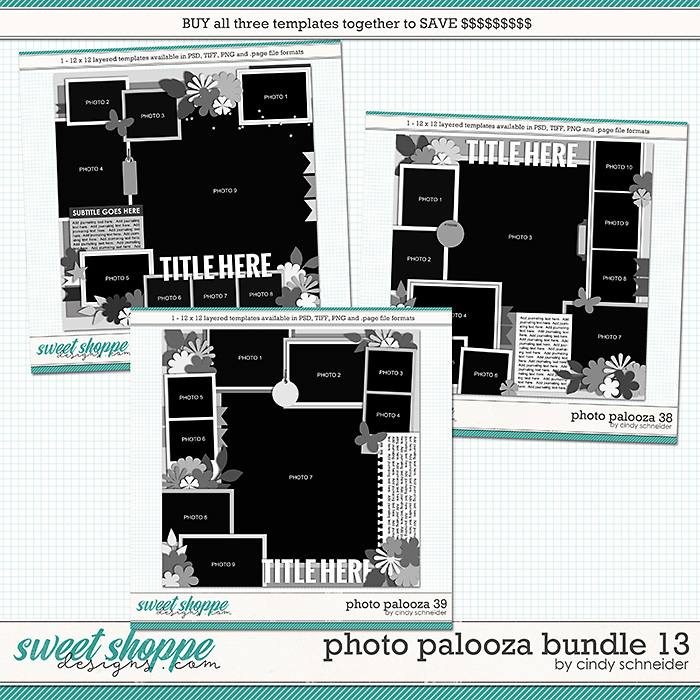 Cindy's Layered Templates - Photo Palooza Bundle 13 by Cindy Schneider