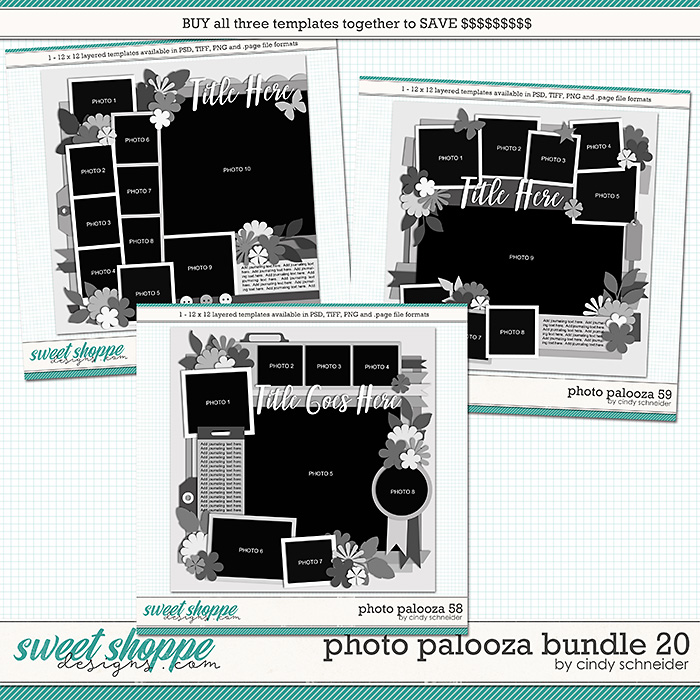 Cindy's Layered Templates - Photo Palooza Bundle 20 by Cindy Schneider