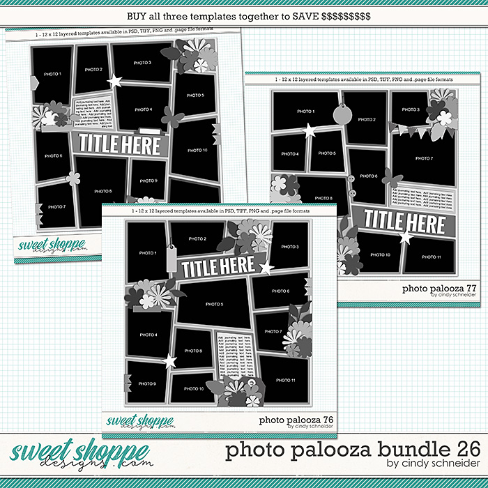 Cindy's Layered Templates - Photo Palooza Bundle 26 by Cindy Schneider