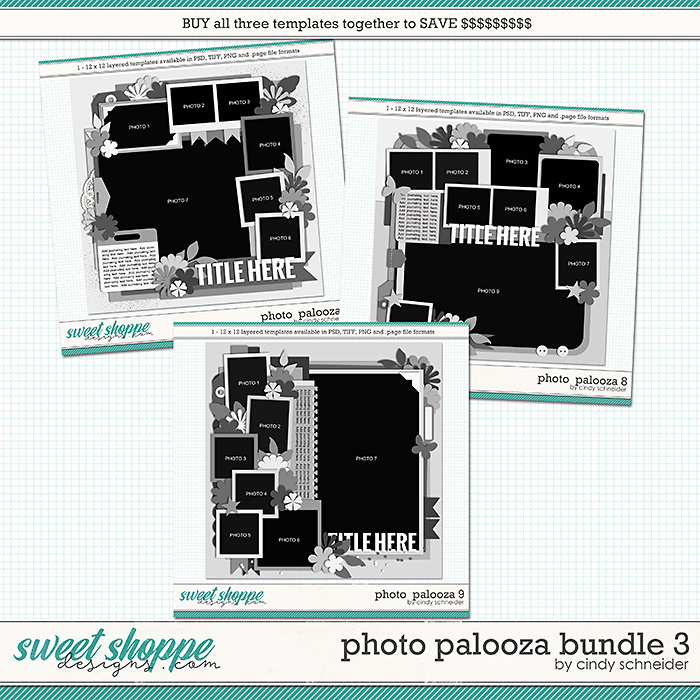 Cindy's Layered Templates - Photo Palooza Bundle 3 by Cindy Schneider