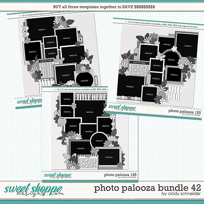Cindy's Layered Templates - Photo Palooza Bundle 42 by Cindy Schneider