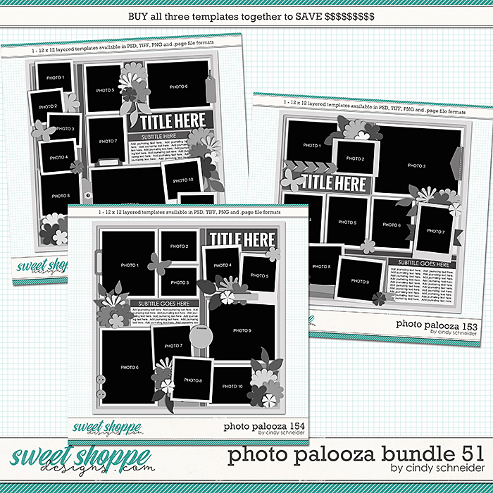 Cindy's Layered Templates - Photo Palooza Bundle 51 by Cindy Schneider