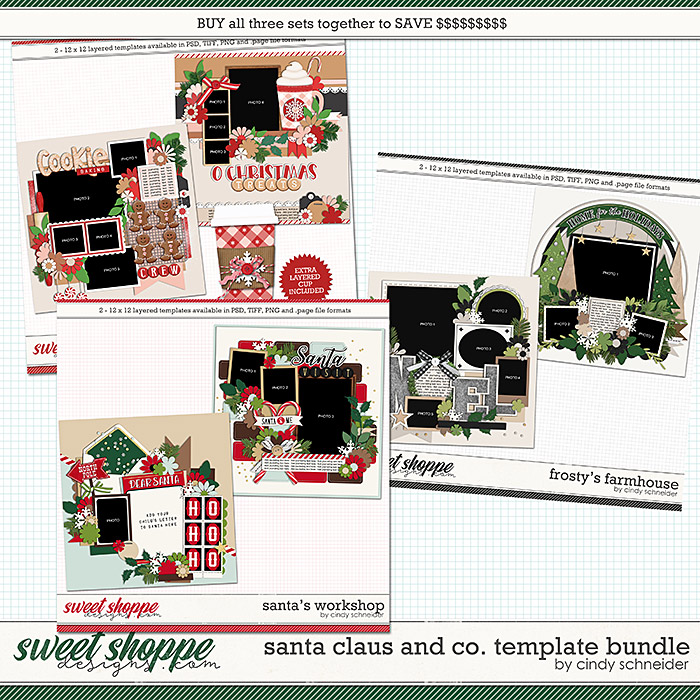 Cindy's Layered Templates - Santa Claus and Co. Bundle by Cindy Schneider
