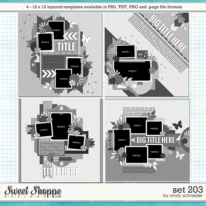 Cindy's Layered Templates - Set 203 by Cindy Schneider