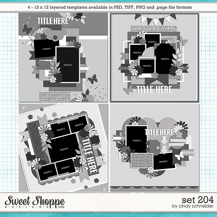 Cindy's Layered Templates - Set 204 by Cindy Schneider