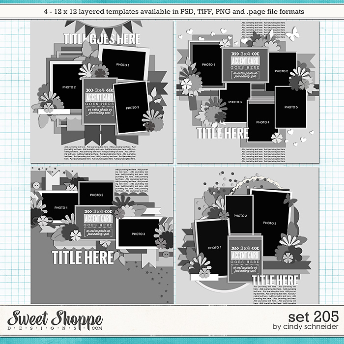 Cindy's Layered Templates - Set 205 by Cindy Schneider