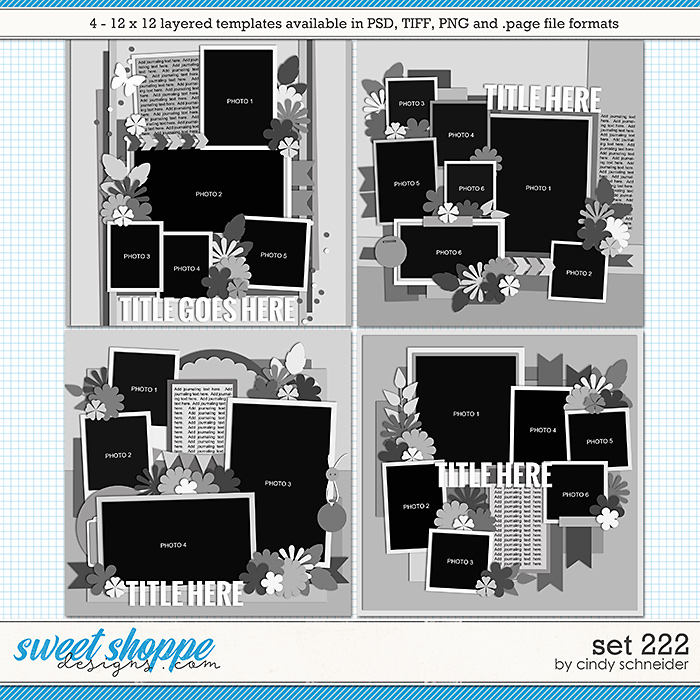 Cindy's Layered Templates - Set 222 by Cindy Schneider