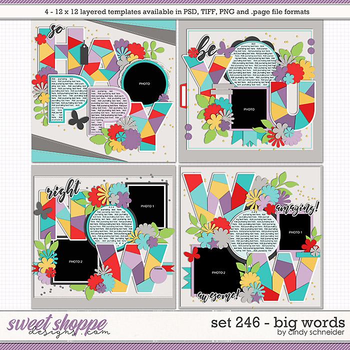 Cindy's Layered Templates - Set 246: Big Words by Cindy Schneider