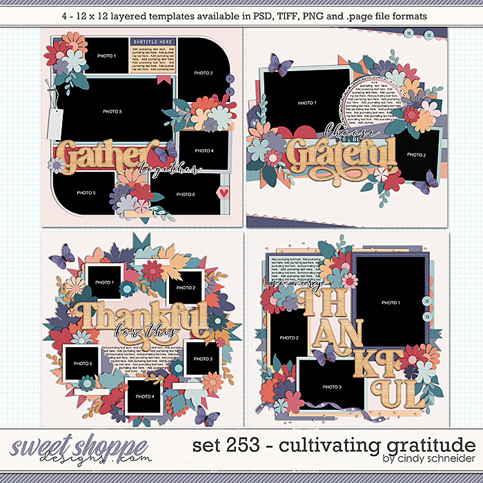 Cindy's Layered Templates - Set 253: Cultivating Gratitude by Cindy Schneider