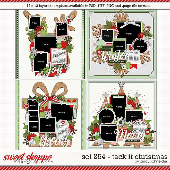 Cindy's Layered Templates - Set 254: Tack It Christmas