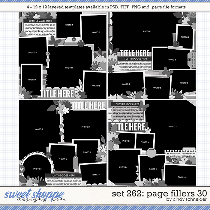 Cindy's Layered Templates - Set 262: Page Fillers 30 by Cindy Schneider