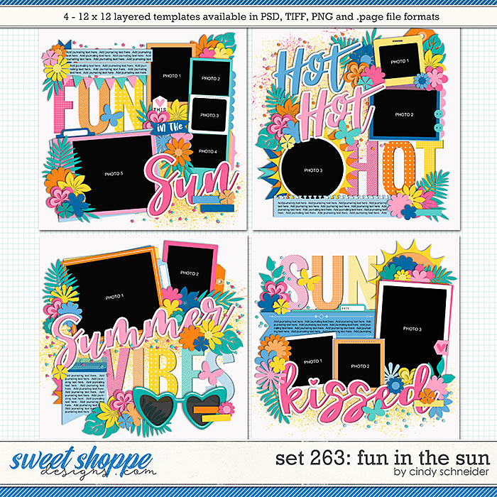 Cindy's Layered Templates - Set 263: Fun in the Sun by Cindy Schneider