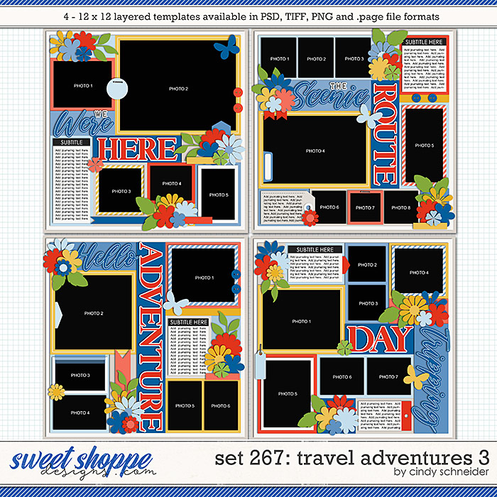 Cindy's Layered Templates - Set 267: Travel Adventures 3 by Cindy Schneider