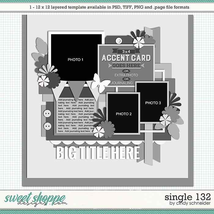 Cindy's Layered Templates - Single 132 by Cindy Schneider