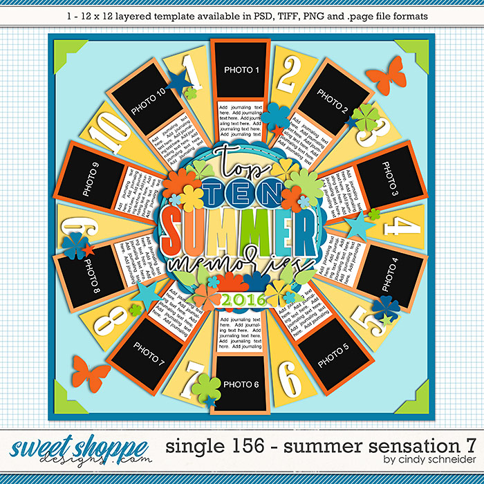 Cindy's Layered Templates - Single 156: Summer Sensation 7 by Cindy Schneider