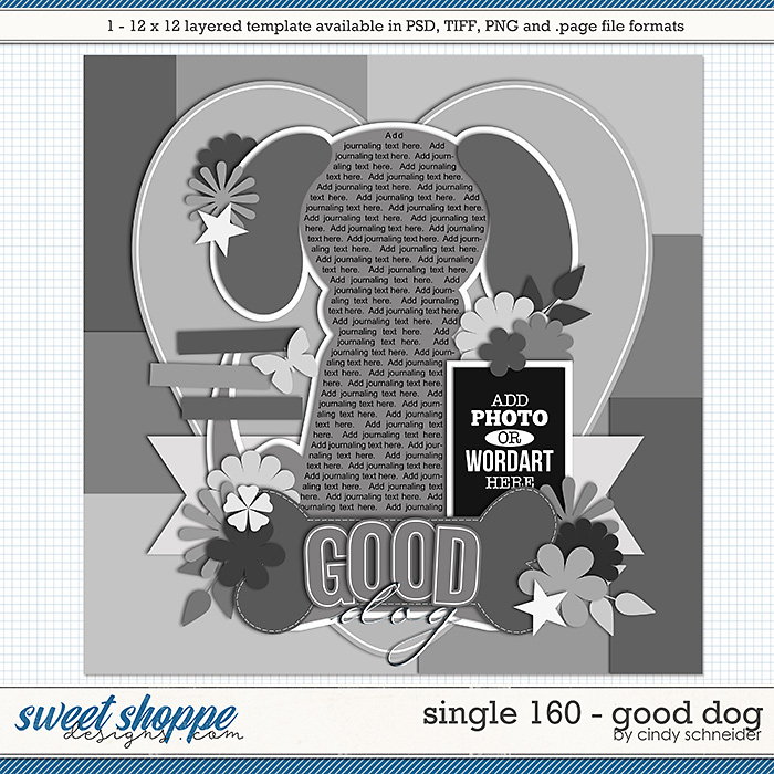 Cindy's Layered Templates - Single 160: Good Dog by Cindy Schneider