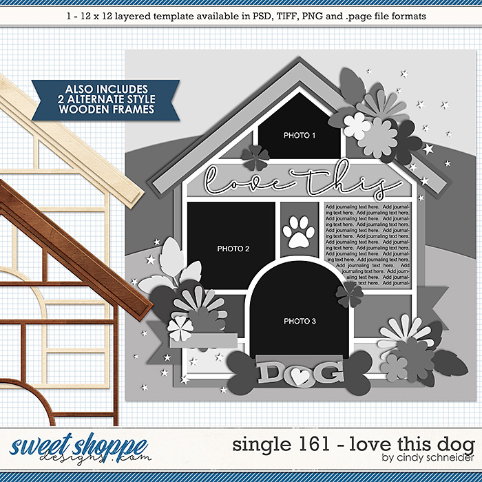 Cindy's Layered Templates - Single 161: Love This Dog by Cindy Schneider