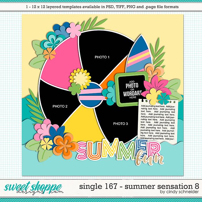 Cindy's Layered Templates - Single 167: Summer Sensation 8 by Cindy Schneider