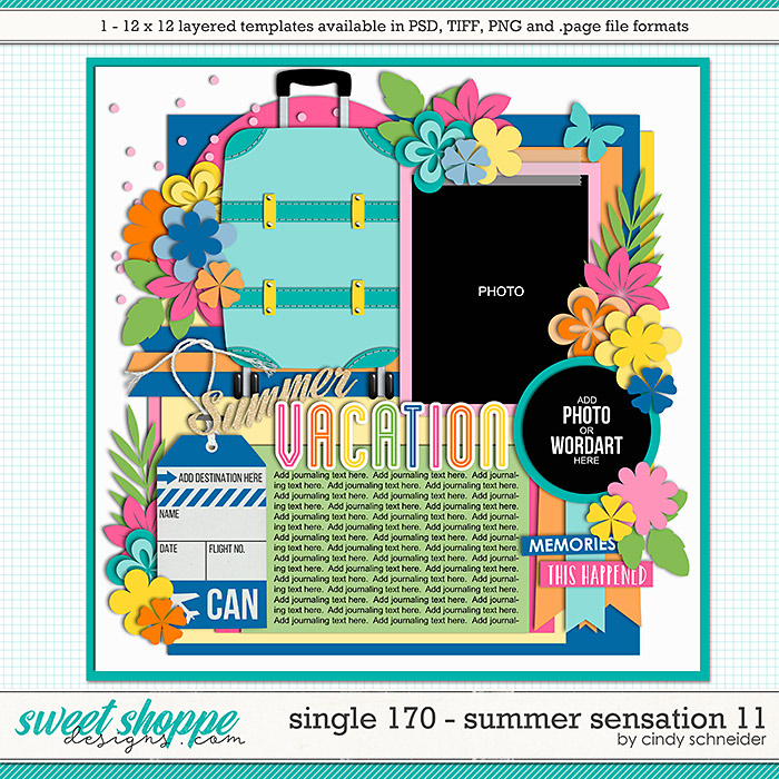 Cindy's Layered Templates - Single 170: Summer Sensation 11 by Cindy Schneider