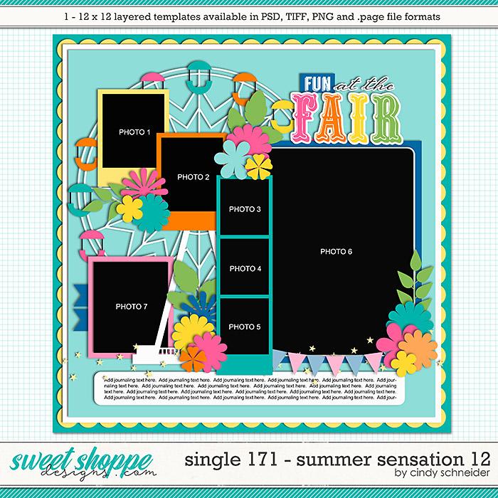 Cindy's Layered Templates - Single 171: Summer Sensation 12 by Cindy Schneider